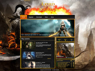 Gaming Website by iBrushART