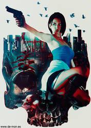 Jill Valentine - Resident Evil 3 fan art by De-monVarela