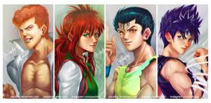 Yu Yu Hakusho characters by pauldng