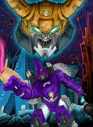 Galvatron and Unicron by Mr-Alexander
