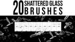 20 Shattered Glass Photoshop Brushes by stockgorilla