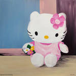Hello Kitty At The Window by BarbaraPommerenke