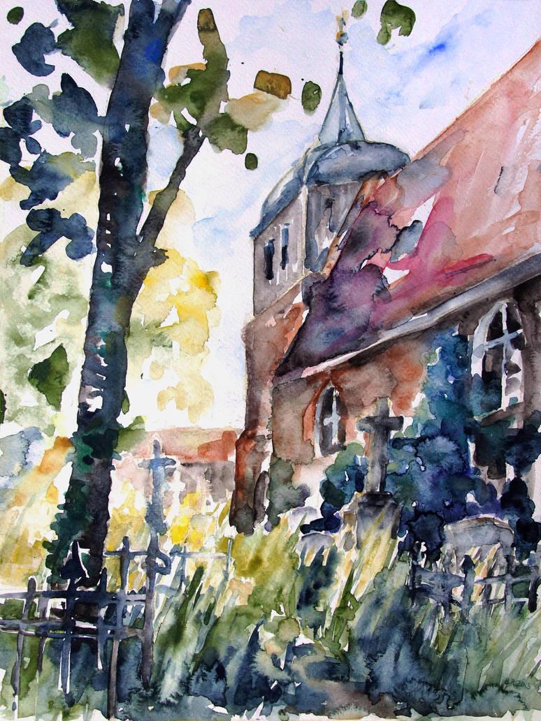 Church Cemetery In Buchholz, Mecklenburg- Germany by BarbaraPommerenke