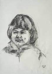 Smiling Little Girl by BarbaraPommerenke