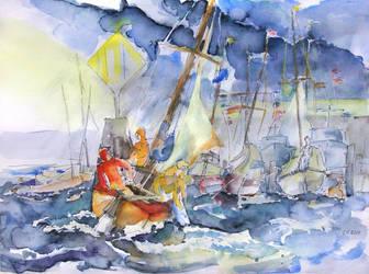 Safe And Sound Back At The Port by BarbaraPommerenke
