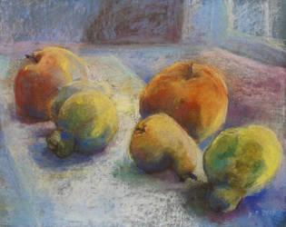 Fruit In Moonlight by BarbaraPommerenke