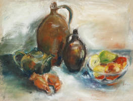 Still Life With Earthen Jugs by BarbaraPommerenke