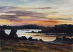 After Sunset at Lake Fleesensee by BarbaraPommerenke
