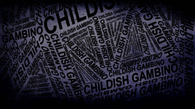 Childish Gambino Typography Wallpaper by ryanr08