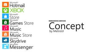 Rebranding concept by MetroUI