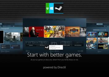 Xbox OS Steam by MetroUI