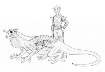 Lizard Rider by VinrAlfakyn25