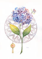 Hydrangea and Gothic rose. by lazygirl-29
