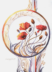 Steppe poppies by lazygirl-29