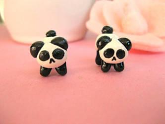 Mini Panda Studs I by sunnyxshine