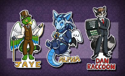 Chibi Badges #4 by MaryCapaldi