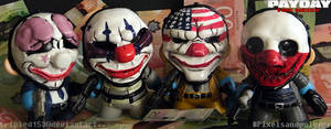 Payday the Heist Mini Munny's by tripled153