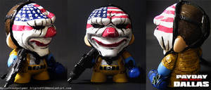 Dallas (Payday the Heist) Mini Munny by tripled153