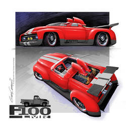 1954 Ford F100 LeMans Street Roadster by GaryCampesi
