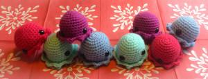 Cute octopus amigurumi toys by thehobbypanda