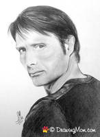 Mads Mikkelsen, of NBC's Hannibal by DrawingMom