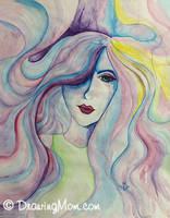 Pastel Tears by DrawingMom