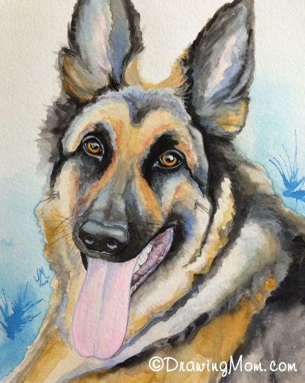 Max the GSD by DrawingMom