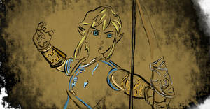 Breath of the Wild Colored OutlineLink by boxofcox
