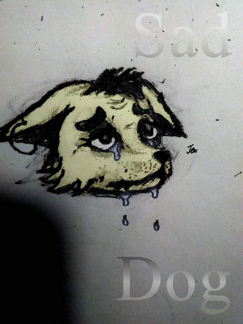 Sad Dog by JaxTheKomodoDragon