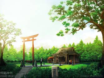 Hakurei Shrine by VenomousBlaze