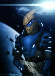 Mass Effect 2 - Garrus by OrbitalWings