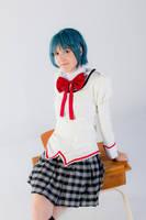 Miki Sayaka 7 - Desk by simakai