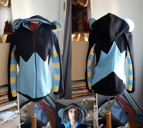 Luxray custom hoodie commission by simakai