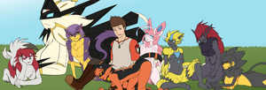 Me and My pets pokemons. by BloodRavens1