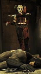 Harley knock Batman by nedved956
