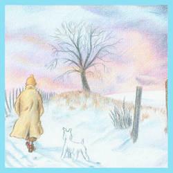 Tintin Christmas Card no.2 by Wainyman