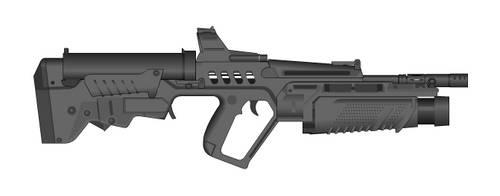 Holbars T-7 Assault Rifle, Model 1971 by Carpathia2013