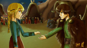 HTTYD their marriage -color by SandraMJ