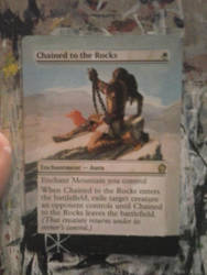 MTG Altered Art Chained to the Rocks by Sharky84