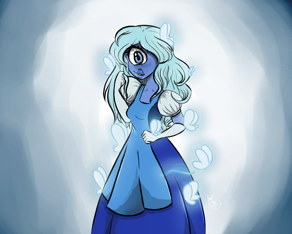 Have I ever told anyone Sapphire's one of my favorite's to draw? and I absolutely adore how this came out, it's precious.