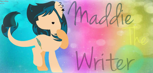 Maddie The Writer (Silhouette) by MyLittlePonyLover198