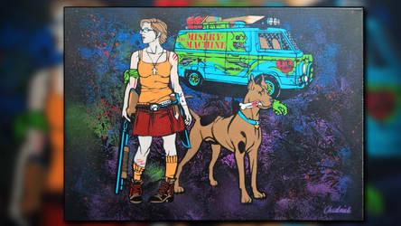 Scooby-Doo 30x40 cm by Szykielet