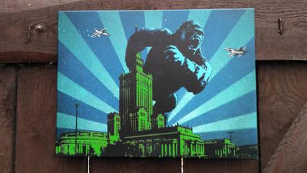King Kong in Warsaw by Szykielet