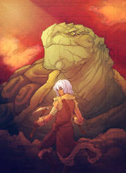 Climber and Tortoise by kathrynlayno