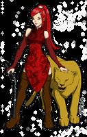 La fille et la lionne by silwek