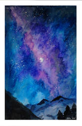 Galaxy watercolor by Ashley2020