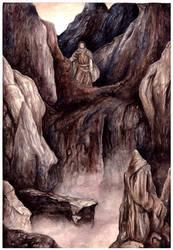 Beren crosses Ered Gorgoroth by peet