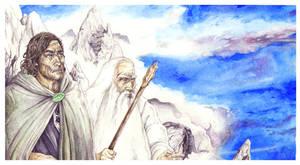 Elessar and Mithrandir by peet