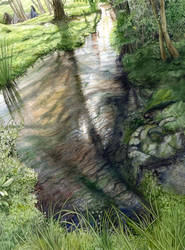 Finrod and Turgon at the Meres of Twilight by peet