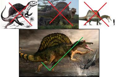 Paleontology: Spinosaurus Model by 6500nya